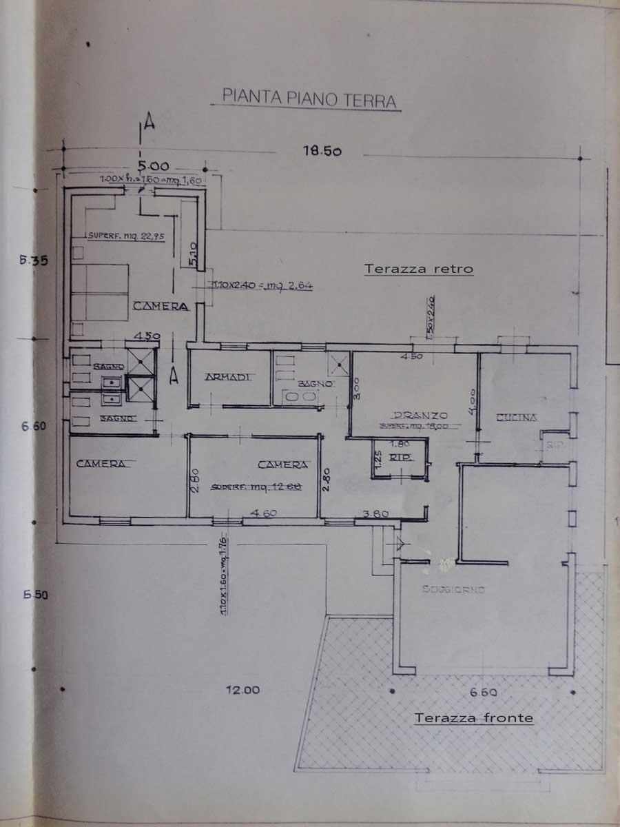Villa singola con giardino in vendita a tirrenia for Planimetria giardino