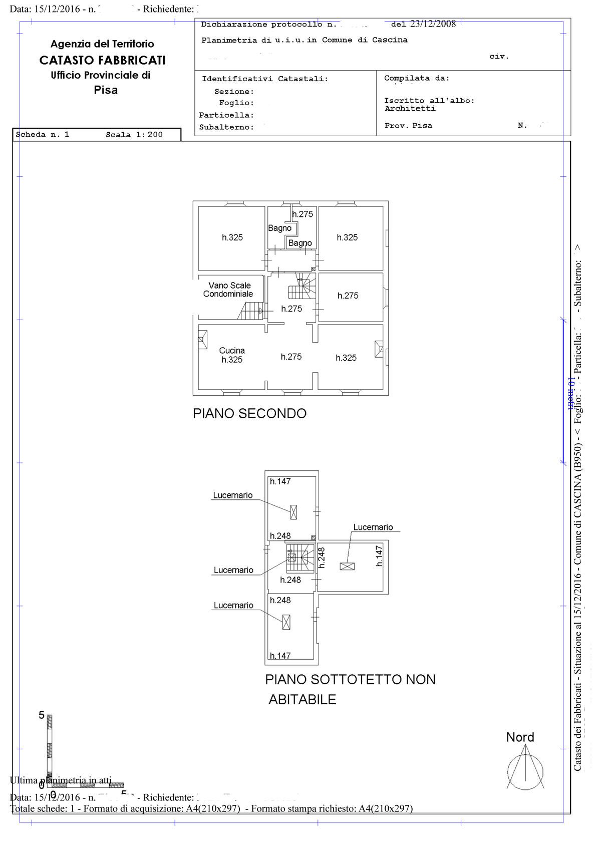Appartamento 190 mq in vendita a cascina cascina pisa for Planimetrie in vendita