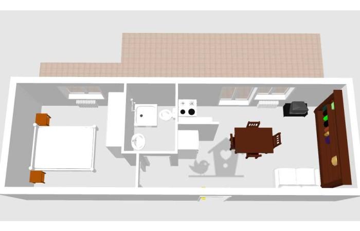 Attico bilocale con terrazza in vendita a Pisa in via Finlandia