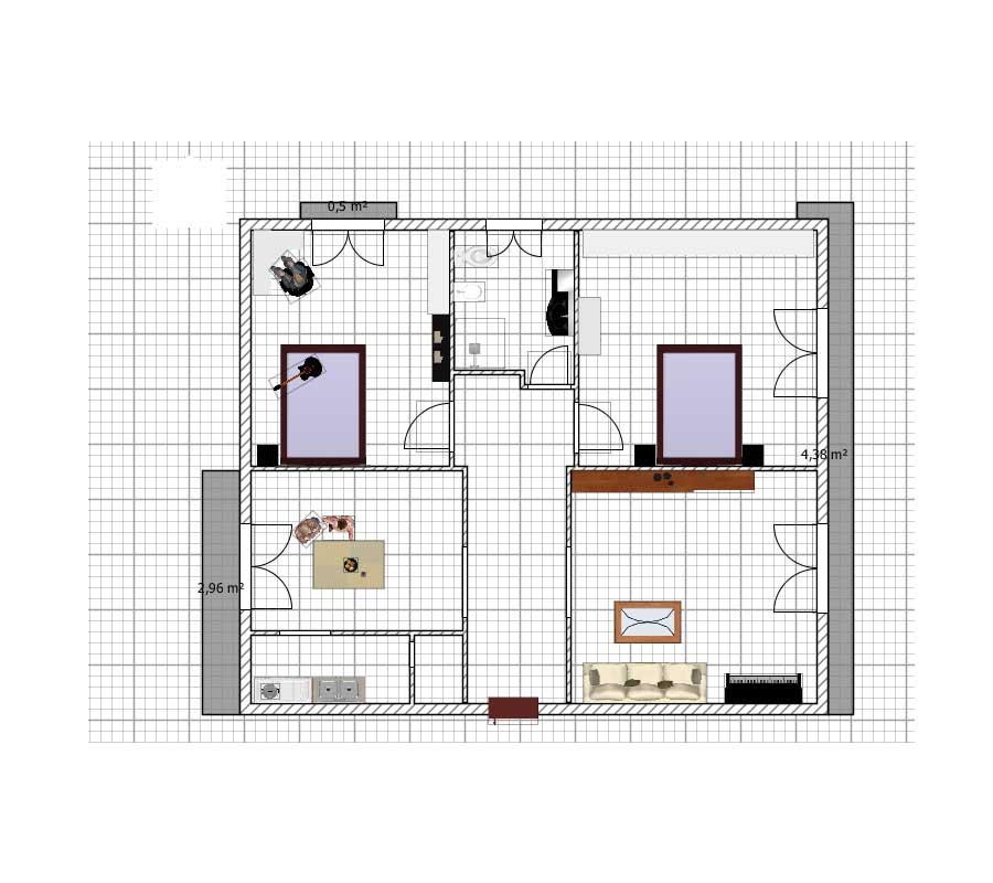 Appartamento 100mq in vendita a cascina centro for Planimetrie per case di 1800 piedi quadrati